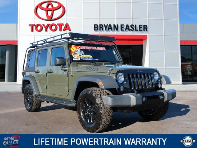 pre-owned 2015 jeep wrangler unlimited willys wheeler edition 4x4